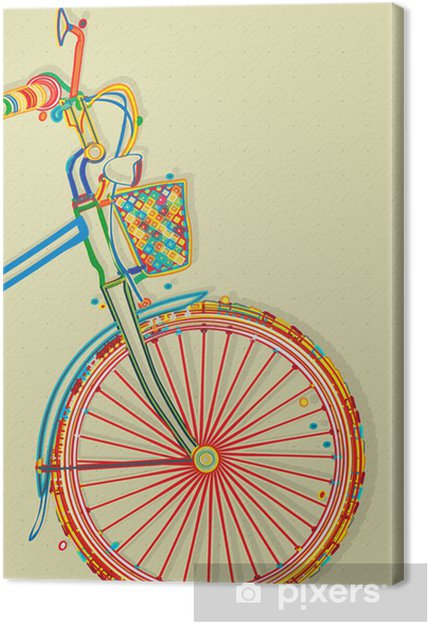 Canvastavla Cykel Kort Pixers Vi Lever For Forandring