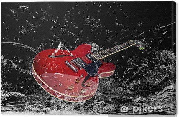 Canvastavla E-Gitarre mit Wasserspritzern - Teman