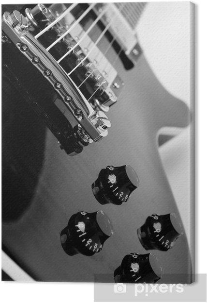 Canvastavla Elgitarr på vit bakgrund - Jazz