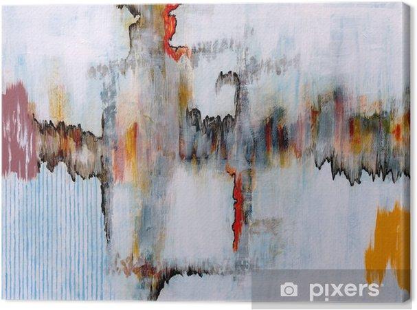 Canvastavla En abstrakt målning - Teknik
