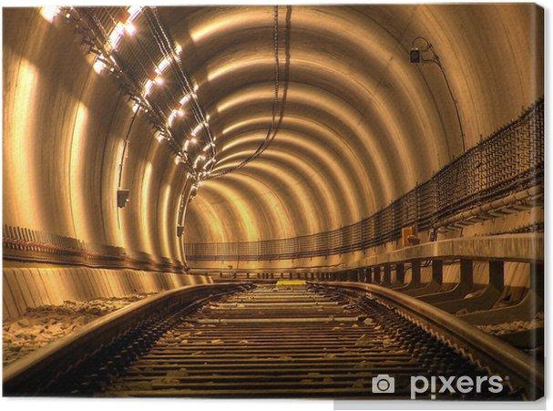 Canvastavla Enligt den grundläggande - Järnvägsstationer och tunnelbana