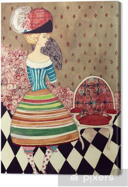 Canvastavla Fairy lady - Mode