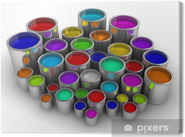 Canvastavla Färgburkar 3 • Pixers® - Vi lever för förändring 4e9f5e784f9b7