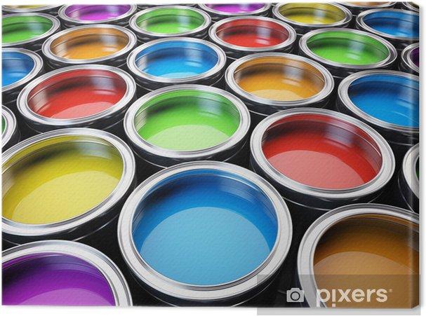 Canvastavla Färgburkar färgpalett • Pixers® - Vi lever för förändring 73d8abaf5037f
