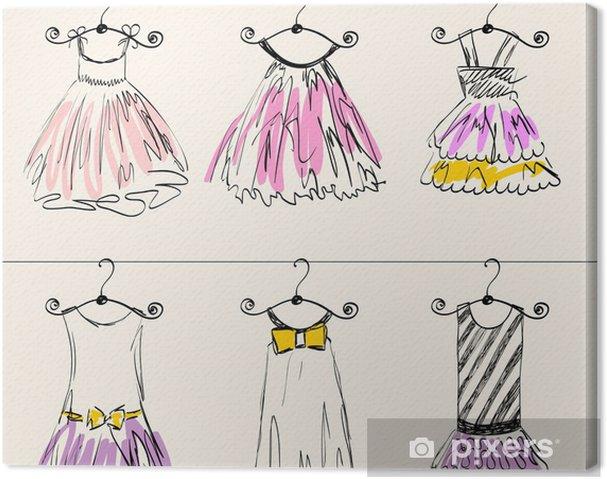 89320ae703fd Canvastavla Fashionabla vackra kläder för små flickor • Pixers® - Vi ...