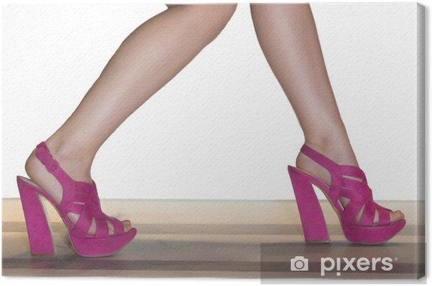 4d2b6640993 Canvastavla Flicka ben och skor • Pixers® - Vi lever för förändring