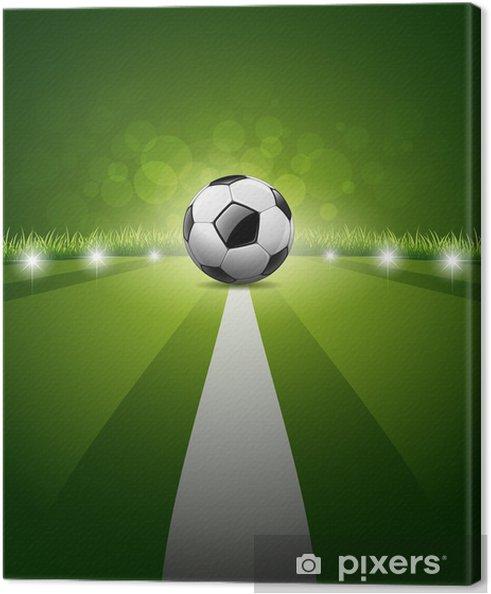 Canvastavla Fotboll boll på grönt gräs bakgrund 3ca9646ae51d0