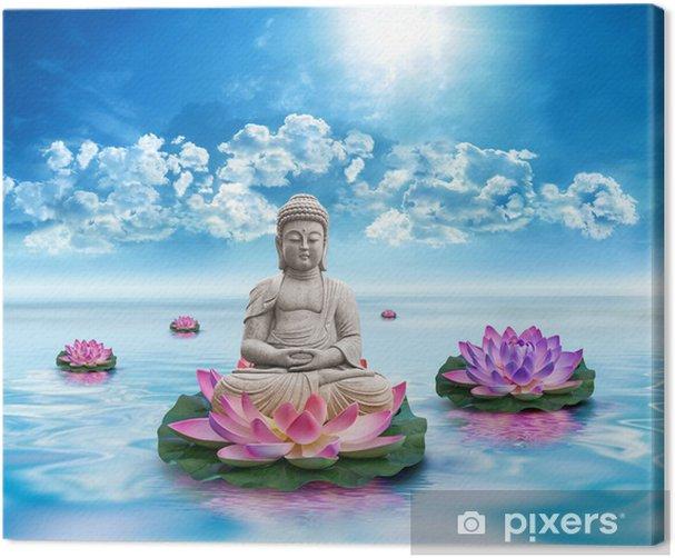 Canvastavla Frihets Bouddha - Teman