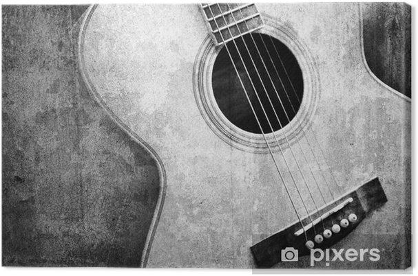 Canvastavla Gamla gitarr svart och vitt - Stilar