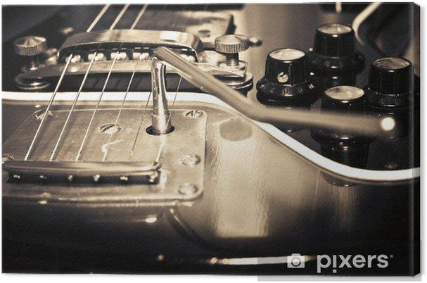 Canvastavla Gamla gitarr - Teman