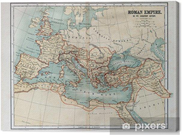 Canvastavla Gammal karta av det romerska riket, 1870 - Teman