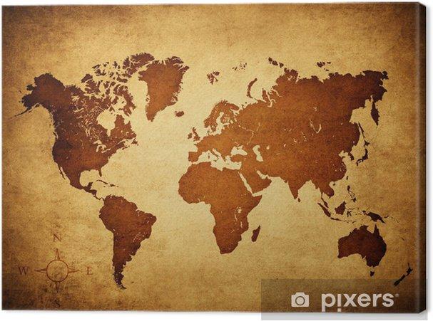Canvastavla Gammal världskartan - Teman