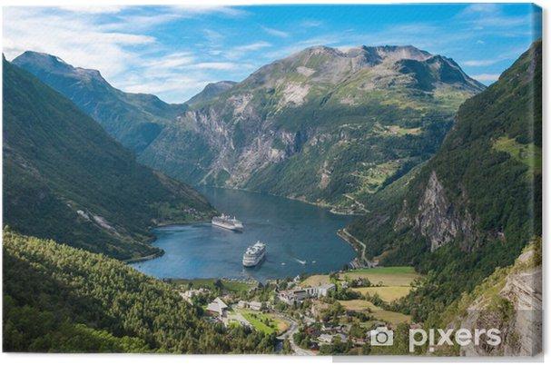 Canvastavla Geiranger fjorden, Norge - Teman