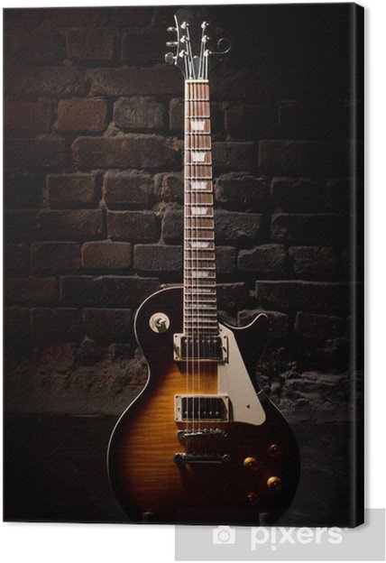 Canvastavla Gitarr elektrisk - Teman