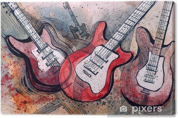Canvastavla Gitarrmusik -