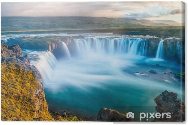 Canvastavla Goda vattenfall - Teman