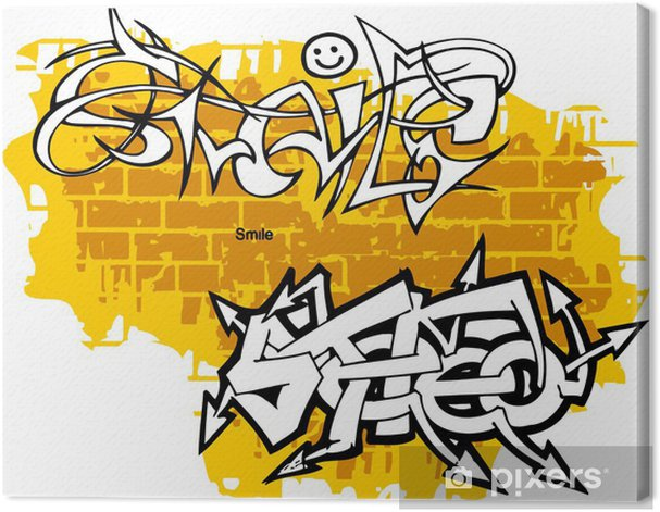 Canvastavla Graffiti -Smiley änden Stereo. - Konst & skapande