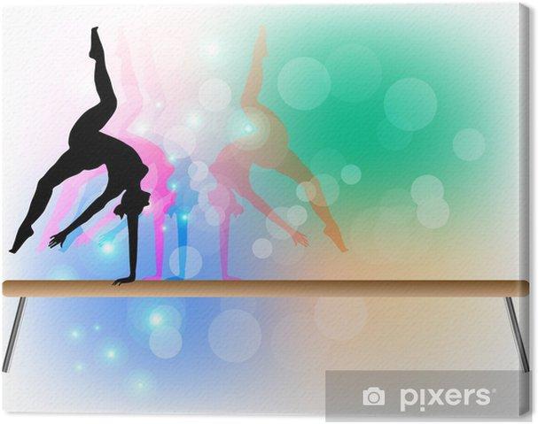 Canvastavla Gymnastik - Beam - Dansare