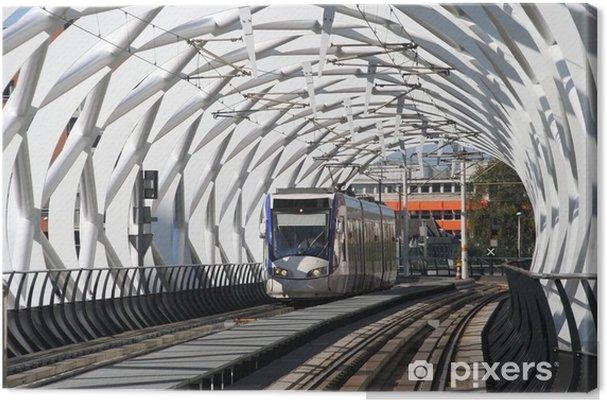 Canvastavla Hastighet Spårvagn i tunneln i Haag - Järnvägsstationer och tunnelbana