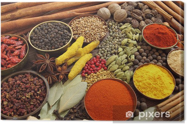 Canvastavla Indiska Kryddor Pixers Vi Lever For Forandring