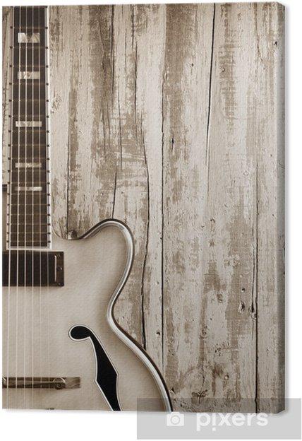 Canvastavla Jazz gitarr bakgrund - Teman