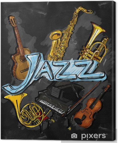 Canvastavla Jazz Målning Instrument - Jazz