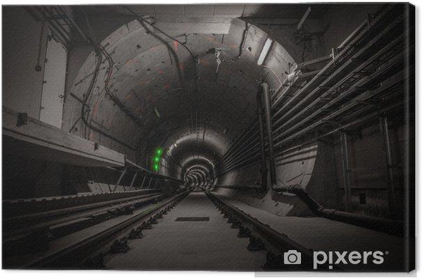 Canvastavla Jordisk tunnel med järnvägsspår - Teman