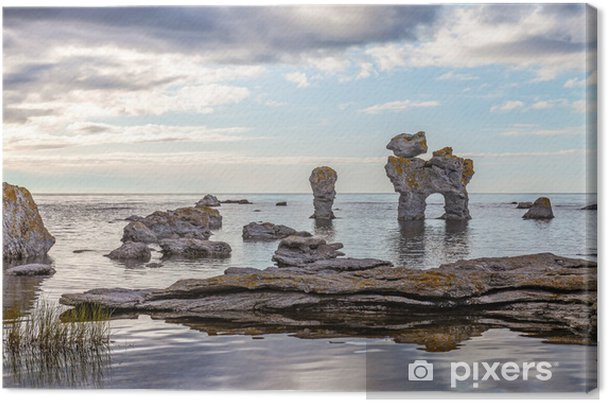 Canvastavla Klippformation på Gotland - Europa