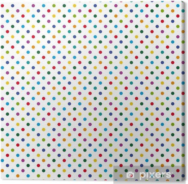 Canvastavla Kontinuerlig bakgrund färgglada prickar -