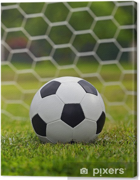 Canvastavla Läder fotboll • Pixers® - Vi lever för förändring b407d32207b3f
