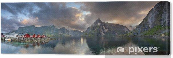 Canvastavla Lofoten Panorama. - Teman