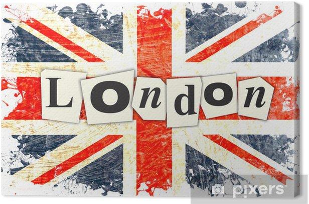 Canvastavla LONDON ENGLISH FLAG - Teman