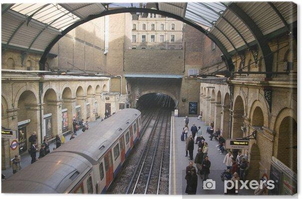 Canvastavla Londons tunnelbana - Teman