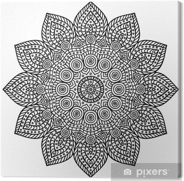 Canvastavla Mandala - Väggdekor