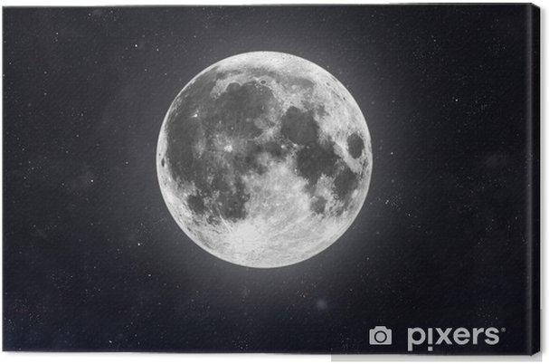 Canvastavla Månen - Yttre rymden