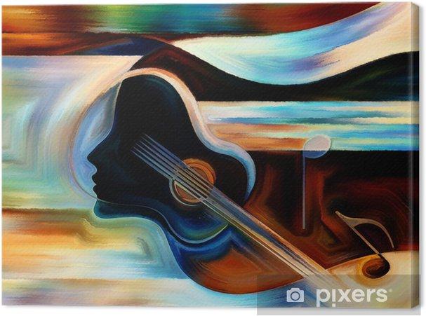 Canvastavla Material of Music - Teman