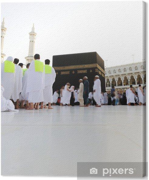 Canvastavla Muslimer Kaba i Makkah för Hajj