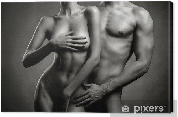 Canvastavla Naken sensuell par - Nakenhet