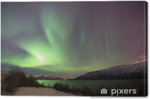 Canvastavla Nordlicht in Norwegen - Teman