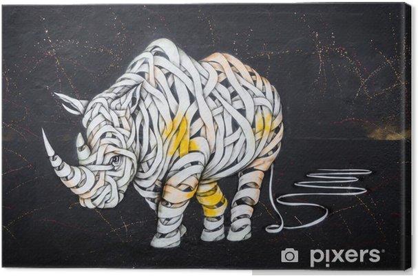 Canvastavla Noshörningslabeln - Hobby och fritid