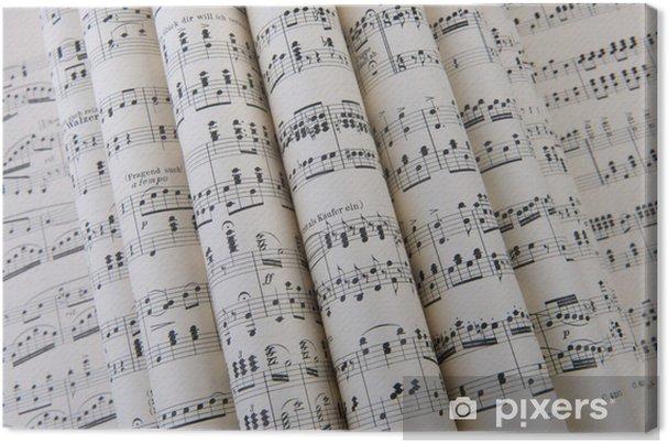 Canvastavla Noter - Musik