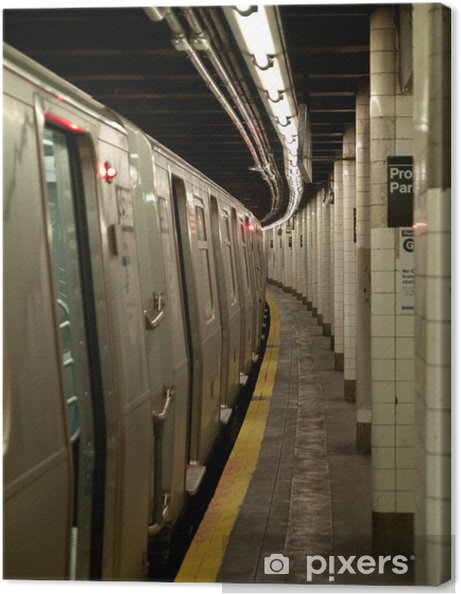 Canvastavla OLYMPUS DIGITAL CAMERA - Järnvägsstationer och tunnelbana
