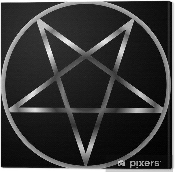 Canvastavla Pentacle- religiös symbol satanism