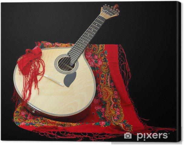 Canvastavla Portugisisk gitarr för Fado - Teman