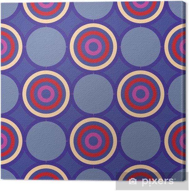 Canvastavla Retro sömlöst mönster med cirklar10 - Grafiska resurser