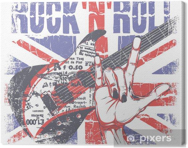 Canvastavla Rock n roll - Rock