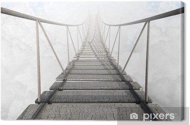 Canvastavla Rope Bridge ovan molnen -