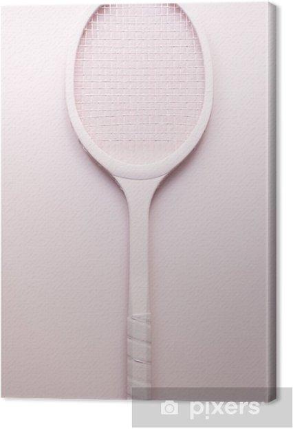 Canvastavla Rosa racket tennis - Idrott
