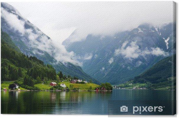 Canvastavla Se till Sognefjorden i Norge - Teman