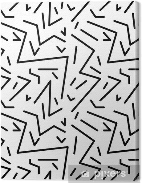 Canvastavla Seamless geometrisk tappning mönstrar i retro 80s stil, Memphis. Idealisk för tyg design, papper tryck och webbplats bakgrund. EPS10 vektorfil - Grafiska resurser